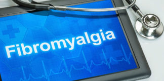 tablet that reads Fibromyalgia