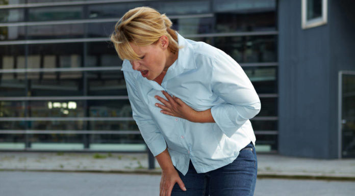 asthma attack woman