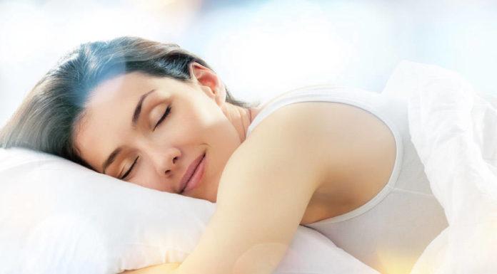 sleeping woman peaceful