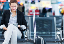 Woman Travel Plane Airport