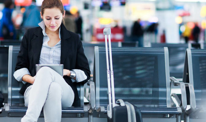 Woman Travel Plane Airport