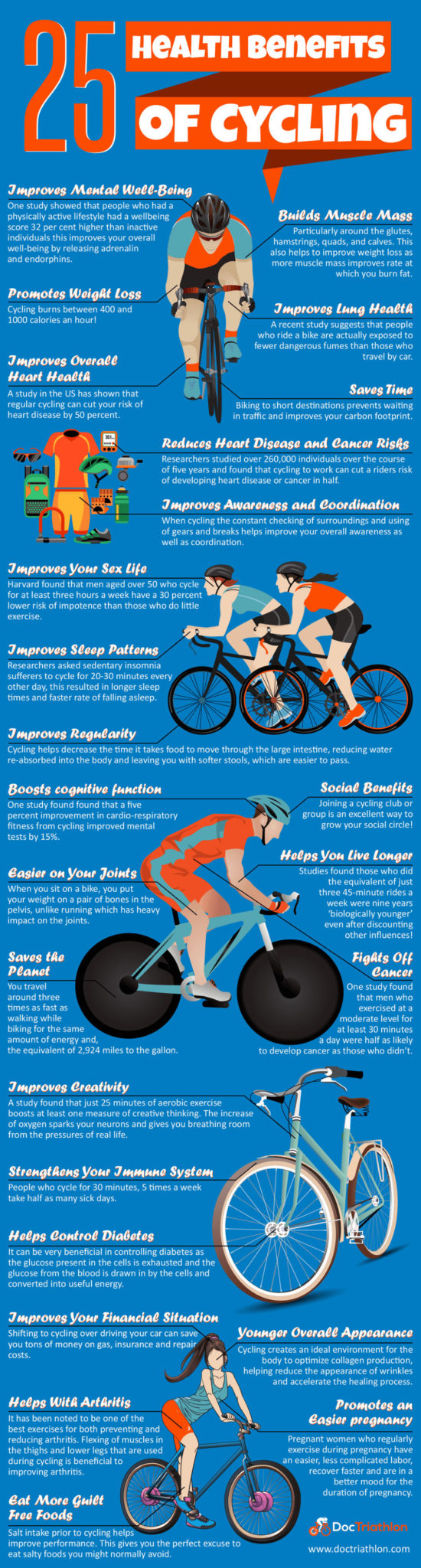 25 Health Benefits of Cycling