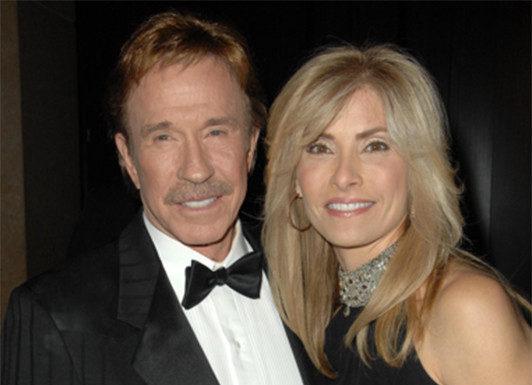 Chuck Norris and wife with rheumatoid arthritis