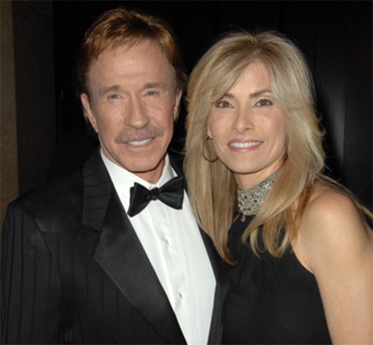 Chuck Norris and wife