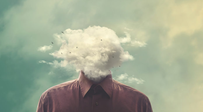 brain fog depiction