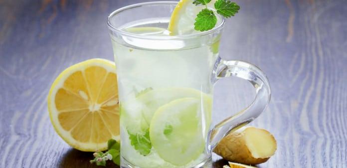 ginger, mint, lemonade drink, Ginger Mint Lemonade Recipe