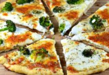 pita pizza broccoli chicken