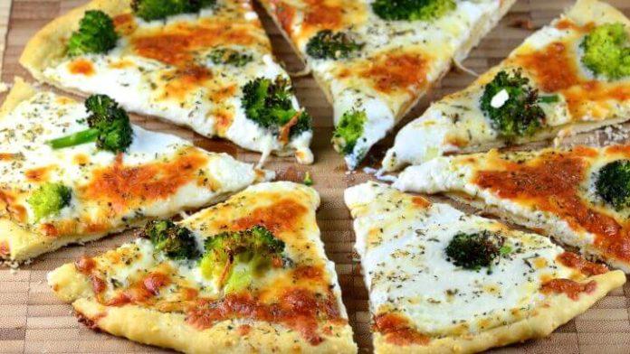 pita pizza broccoli chicken