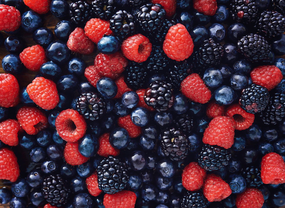 Berries contain potent antioxidants
