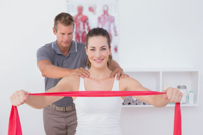woman receiving physiotherapy