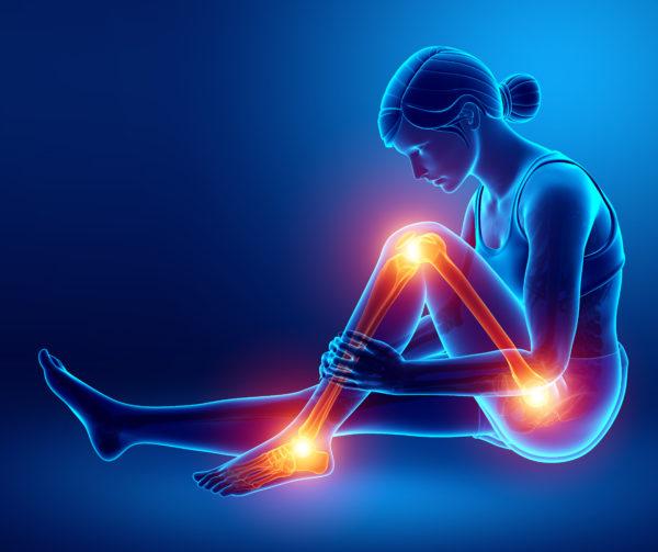 leg pain worse at night illustration