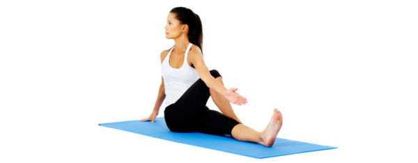 spine twist pose