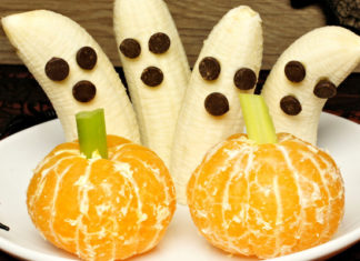 tangerine pumpkins and banana ghosts